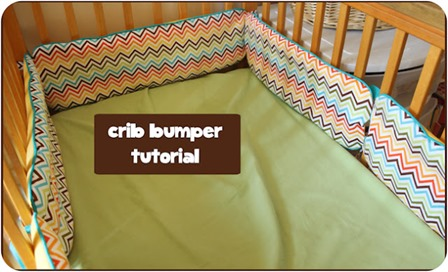 Crib Bumper from Peek-A-Boo Pages