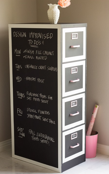 File Cabinet Makeover from Design Improvised