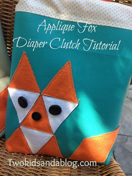 来自两个孩子和博客的Fox Diaper手拿包