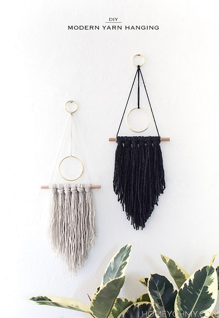 Modern Yarn Hanging from Homey Oh My