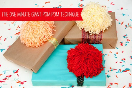 One Minute Giant Pom Poms from Handmade Charlotte
