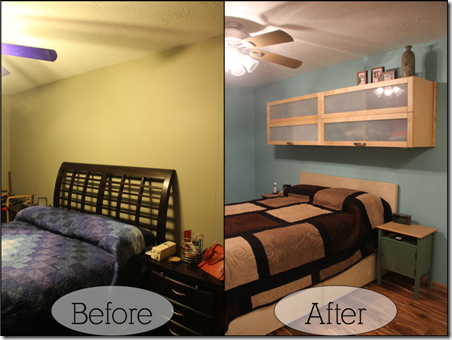 before and after - headboard