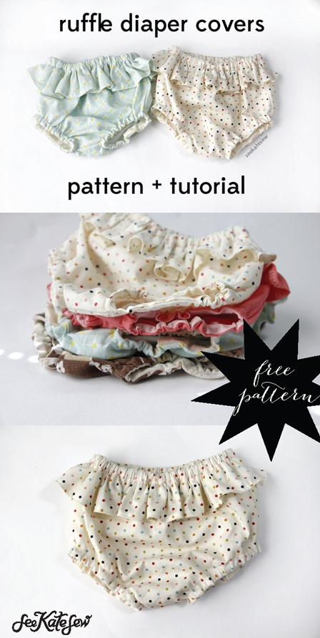 Ruffle Diaper Covers from See Kate Sew
