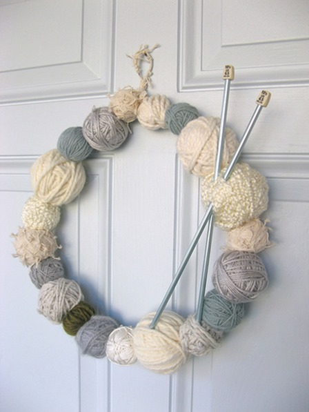Yarn Ball Wreath from Dottie Angel