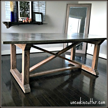 Concrete Dining Table from Uncookie Cutter