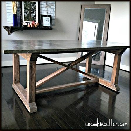 Uncookie Cutter的混凝土餐桌