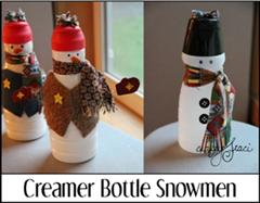 奶精瓶雪人