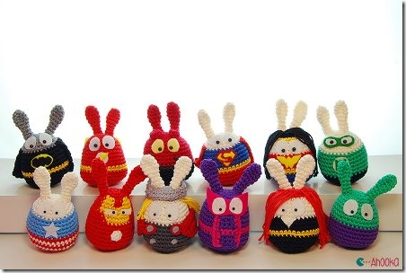 Easter Superheroes from A Hook Amigurumi