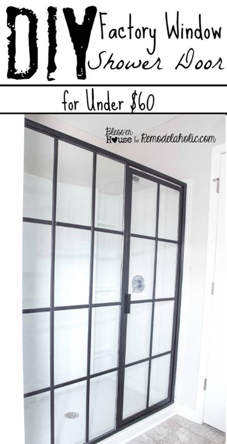 Blesser House的工厂窗户淋浴门
