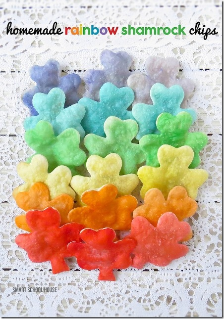 Homemade Rainbow Shamrock Chips from Smart Schoolhouse