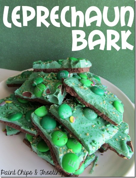 Leprechaun Bark from Paint Chips and Frosting