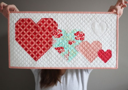 I Heart You Mini Quilt from Cluck Cluck Sew