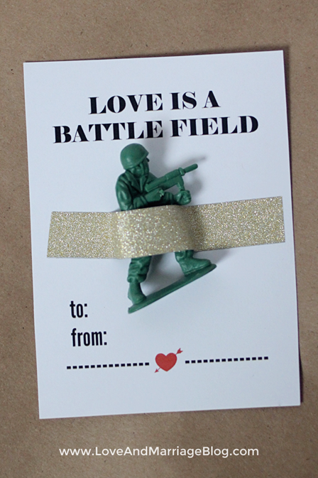 Love is a Battlefield Valentine from Love and Marriage