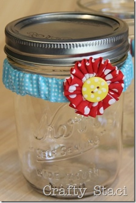 Mason Jar Scrunchie by Crafty Staci