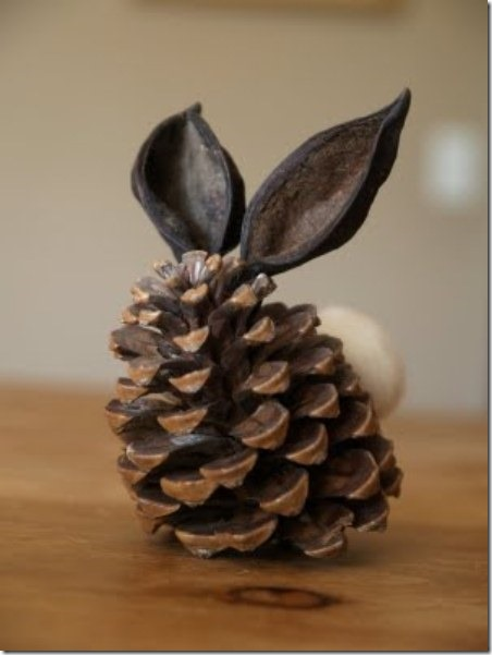 Pine Cone Bunny from The Magic Onions