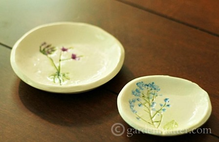 Pressed Flower Jewelry Dish from Garden Matter