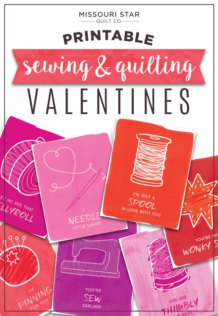 Printable Sewing and Quilting Valentine Printables from The Cutting Table
