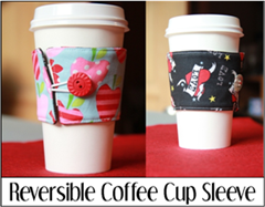 双面咖啡杯套