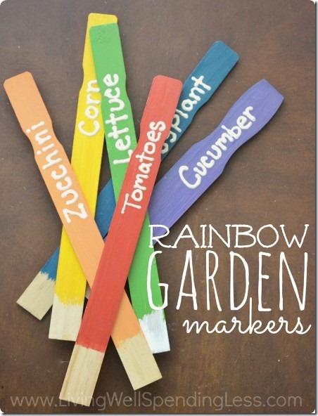 生活少支出的彩虹花园标志物