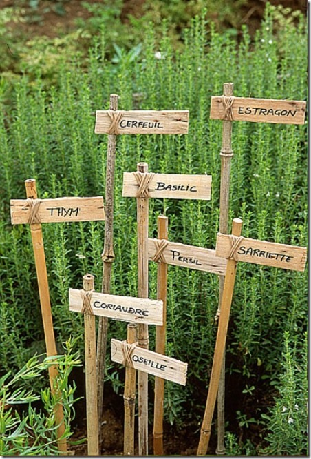 Rustic French DIY Garden Tags from Studio G