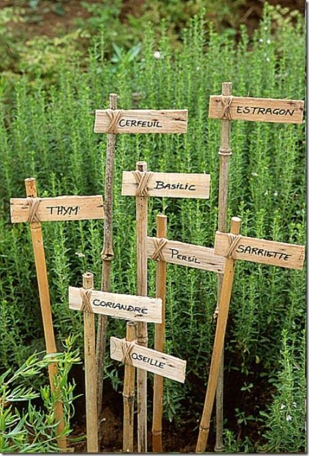 Studio G的乡村法式DIY花园标签