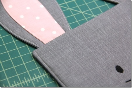 Topstitching the bunny