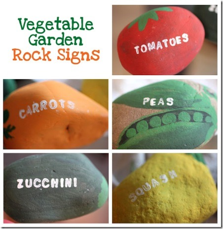 Vegetable Garden Rock Signs from Repeat Crafter Me