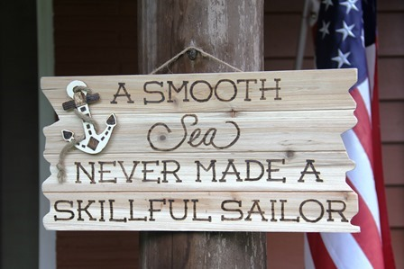 A Smooth Sea Sign by Crafty Staci