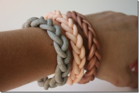 Braided Clay Bracelet from Delighted Momma