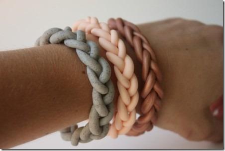妈咪编织粘土手链
