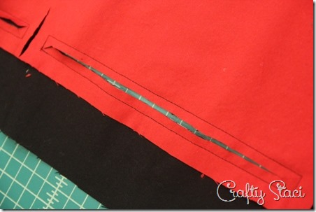 Cutting slits for pockets