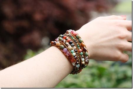 DIY尤里卡水晶珠的包裹手链