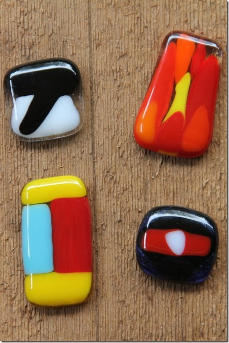 Future fused glass pendants
