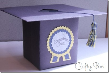 Graduation Cap Cash Box - Crafty Staci