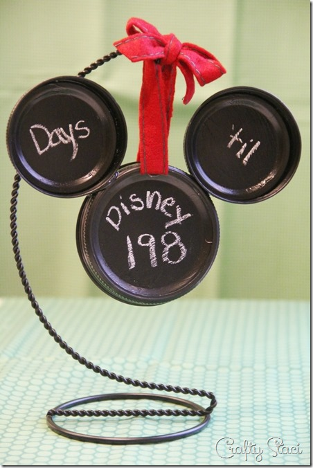 Mickey Mason Jar Lid Ornament - Crafty Staci