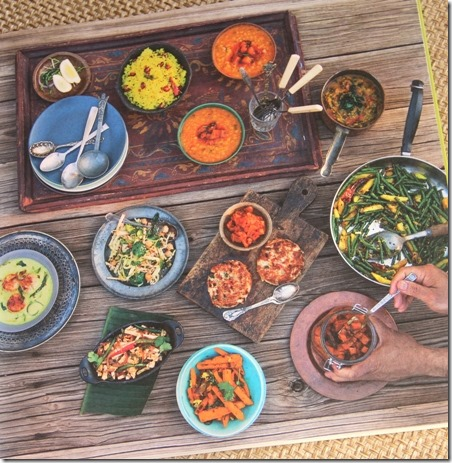 Sampling of dishes from The Cafe Spice Cookbook