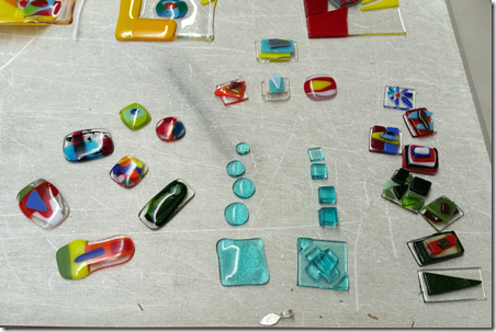 Scott's worktable at Aquila Glass School