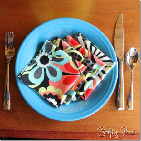 Simple Cloth Napkins - Crafty Staci