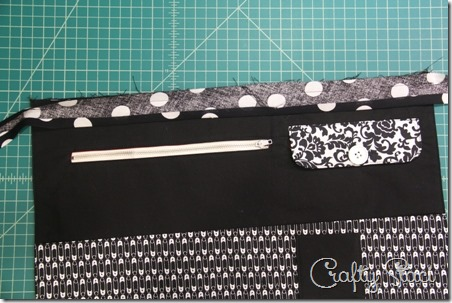 Stitching bias to apron