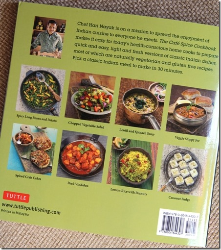The Cafe Spice Cookbook back