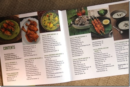 The Cafe Spice Cookbook Table of Contents