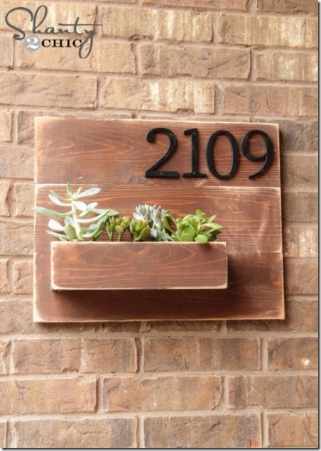 Address Number Wall Planter from Shanty 2 Chic