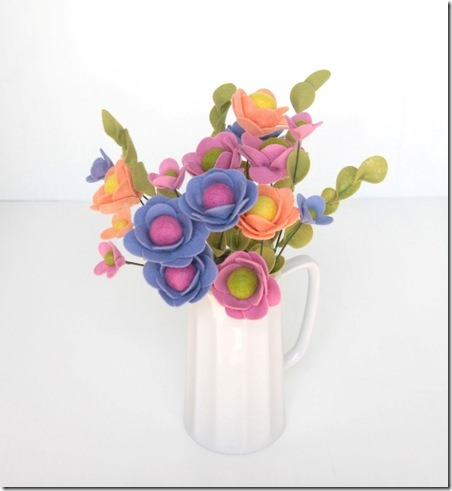 Handmade Felt Flowers from Benzie Design