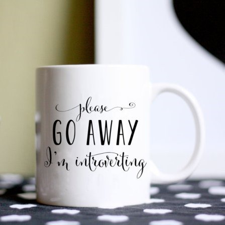Introverting Coffee Mug from BrittanyGarnerDesign on Etsy