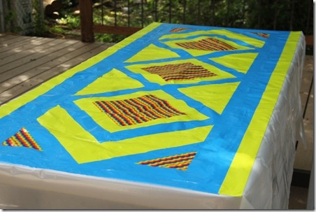 Duct Tape Picnic Table Cloth - Crafty Staci 5