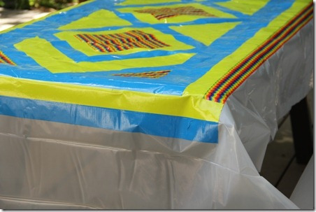 Duct Tape Picnic Table Cloth - Crafty Staci 7