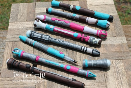 Doctor Who Sonic Screwdrivers from Doodlecraft