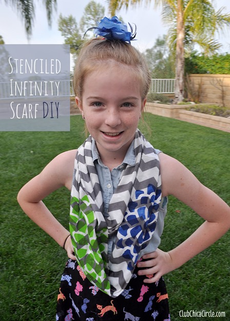 Stenciled Infinity Scarf from Club Chica Circle