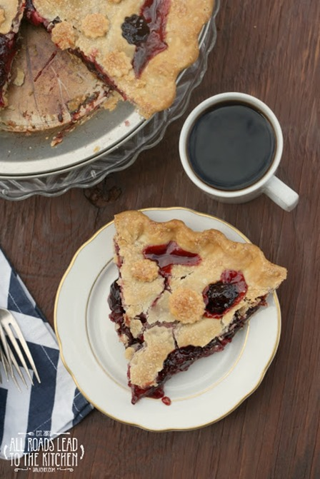 Triple Cherry Pie from All Roads Lead to the Kitchen