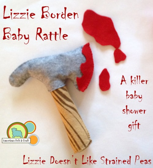 Lizzie Borden Baby Rattle from American Felt and Craft